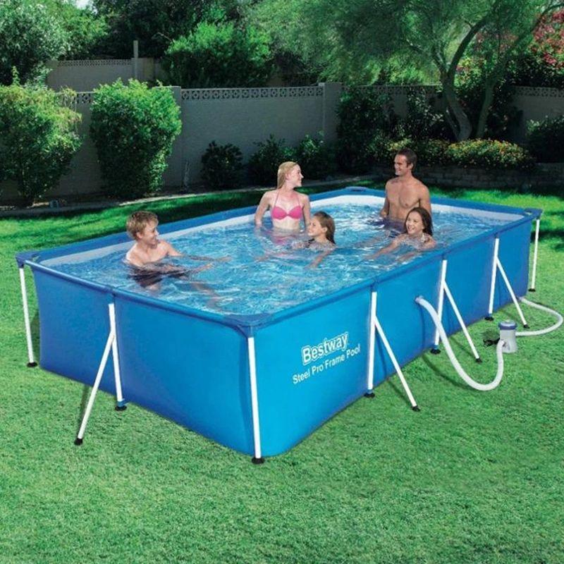 300 x 201 x 66cm 钢制专业防溅架泳池套装,带过滤泵