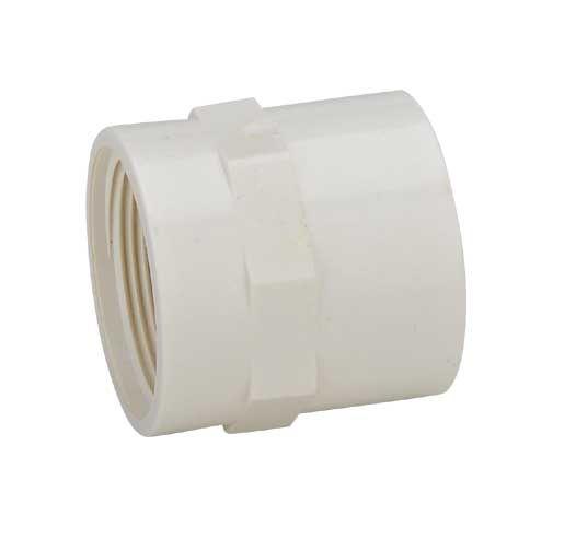 阀门管道PVC给水内螺纹变接头白色