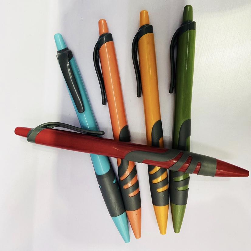 新款糖果色圆珠笔马卡龙卡其彩色按动式广告笔可定制logo办公礼品笔