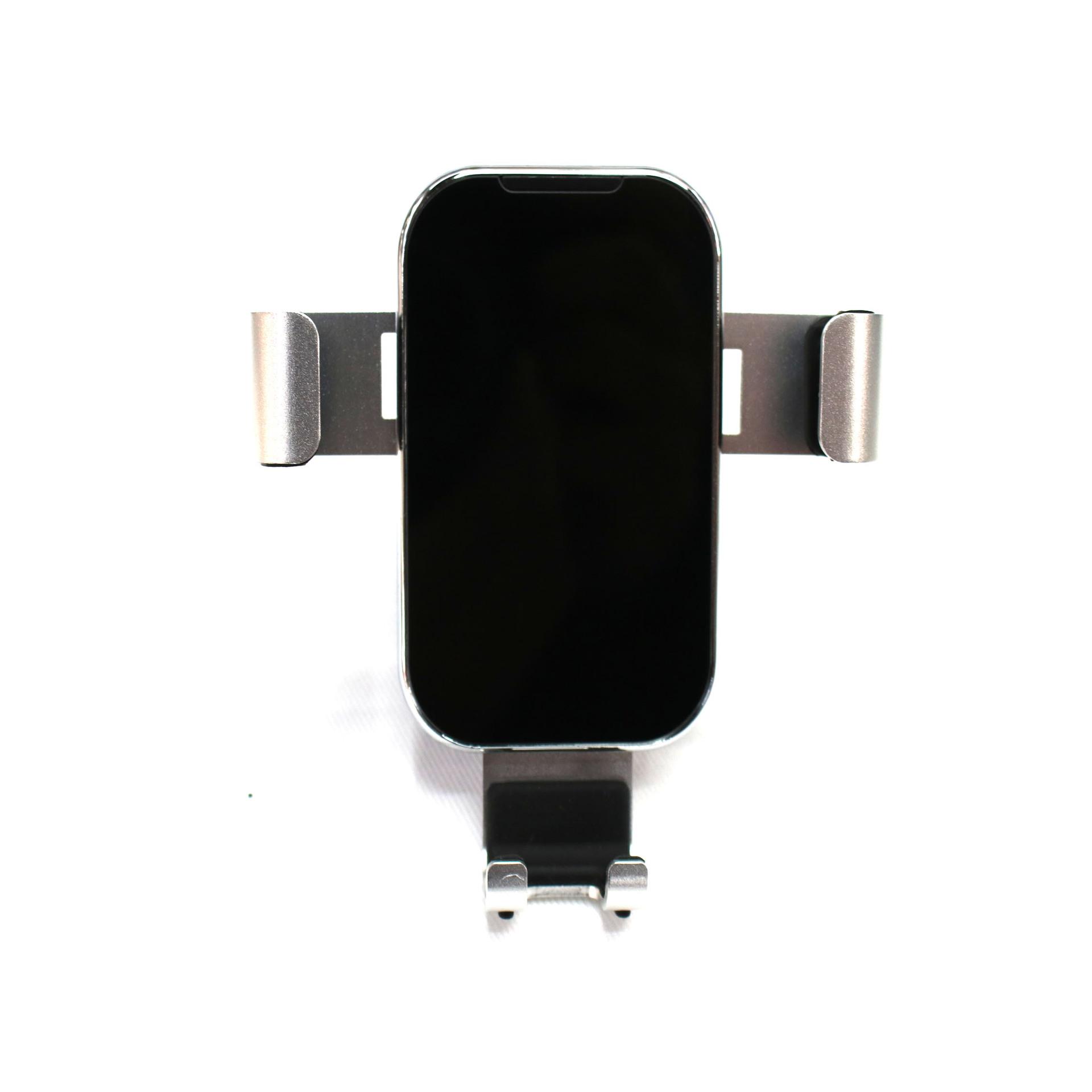 精品三代一条手机支架汽车重力支架礼品定制车载出风导航手机支架黑