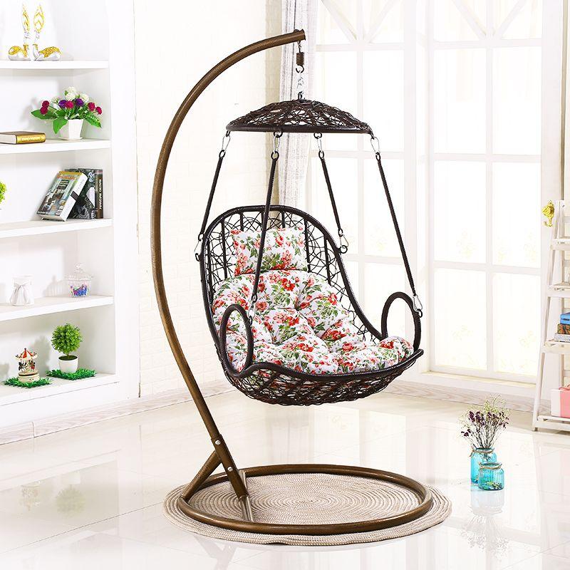 野人谷吊篮藤椅成人摇椅室内阳台单人吊床鸟巢椅家用创意秋千吊椅