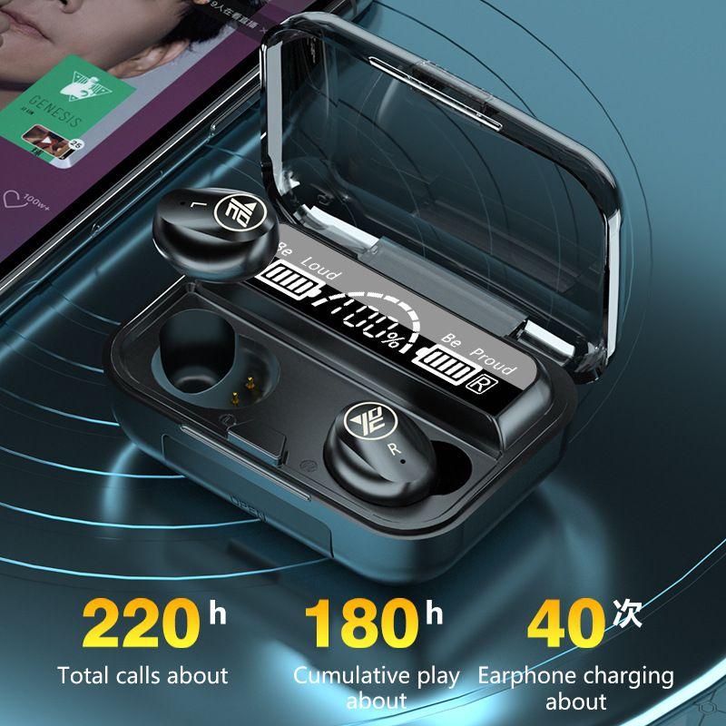 YEXIN 新款M16TWS无线蓝牙耳机5.0新款无线耳机入耳式四灯电量