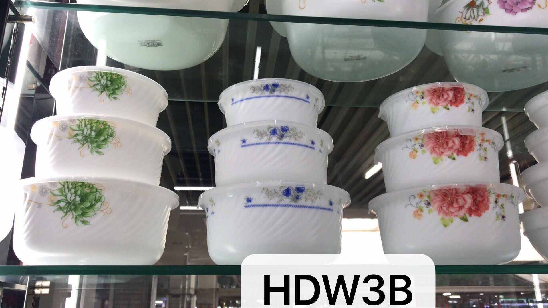 乳白玻璃三件套保鲜碗