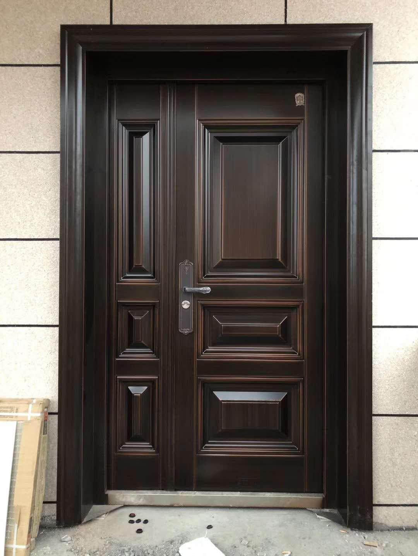 ZINC DOOR 锌合金门 真铜色 别墅大门 永久不褪色