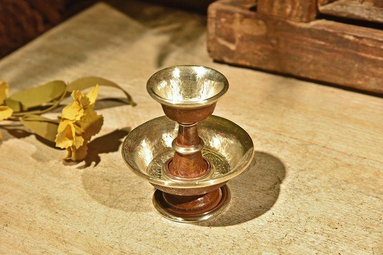 鎏金手工铜雕护法杯1