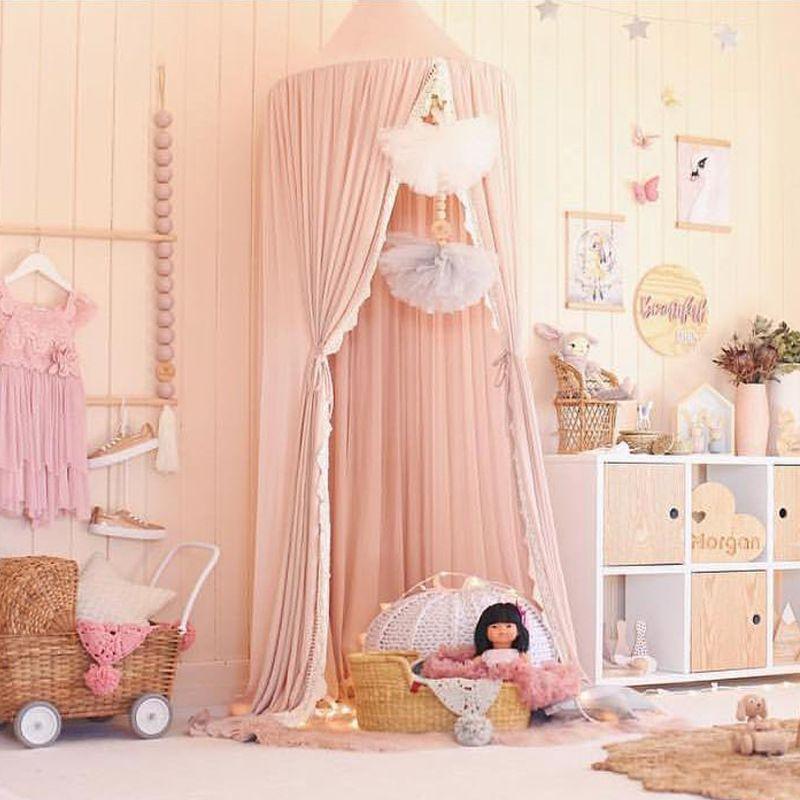 雪纺蕾丝北欧风INS新款儿童帐篷简约热卖婴儿蚊帐家居装饰