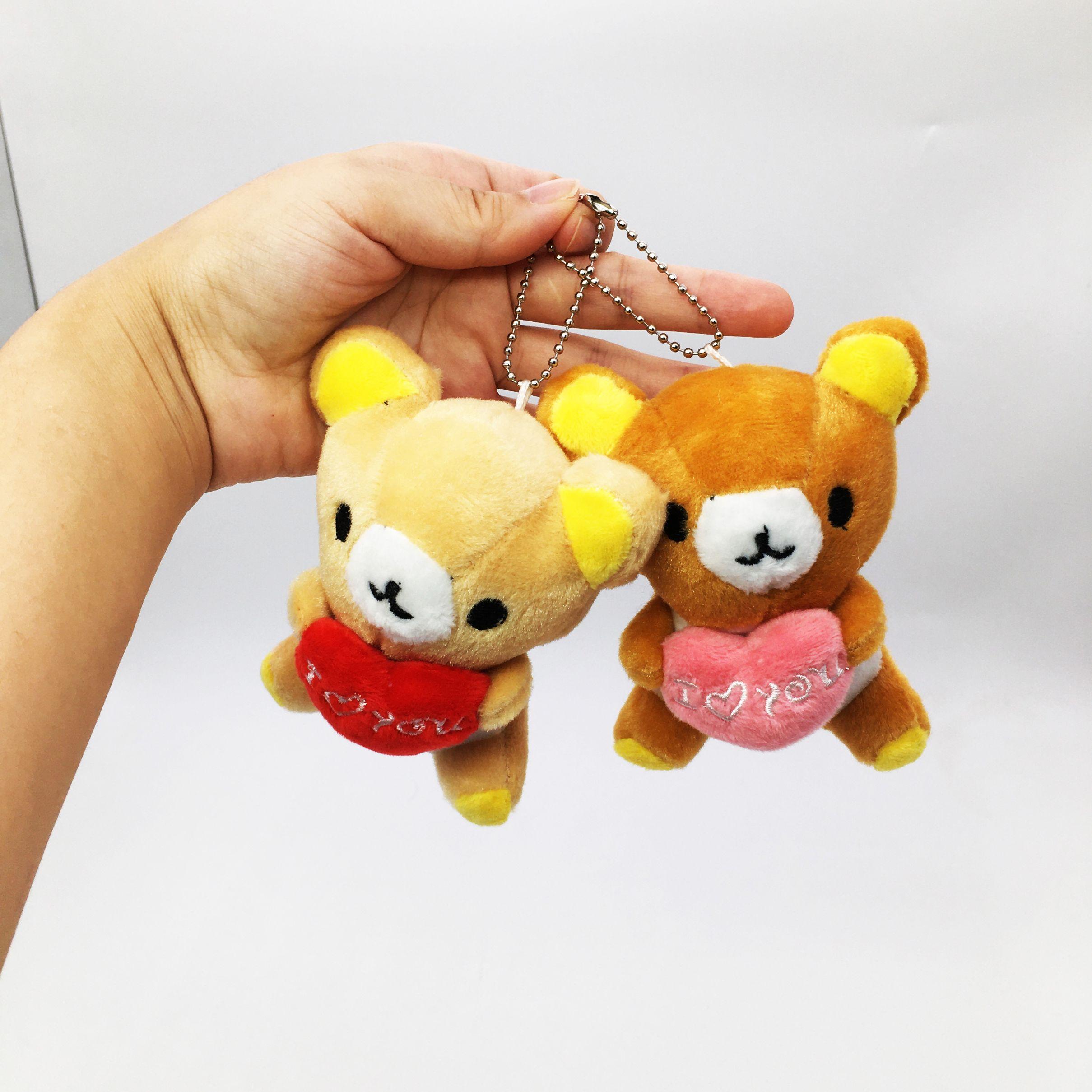 新款日本熊毛绒玩具挂件爱心熊包包衣服配饰婚庆抛洒节日礼物批发