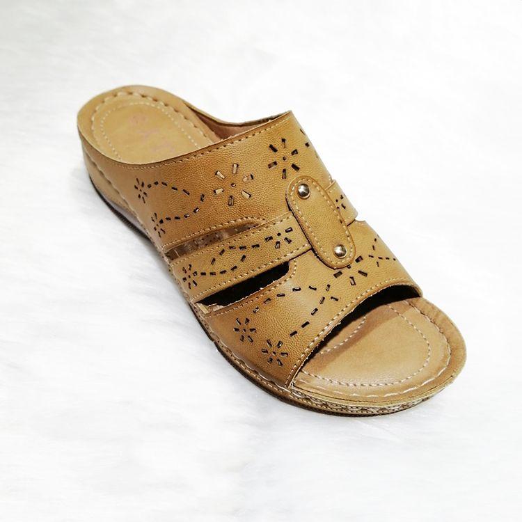 New design hot sell PU wedge slipper shoes