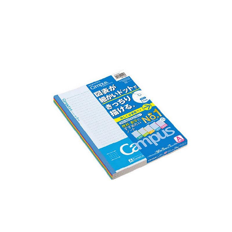 KOKUYO/国誉 NO-F3CAKX5 理科笔记本 B5/30页 5色混装
