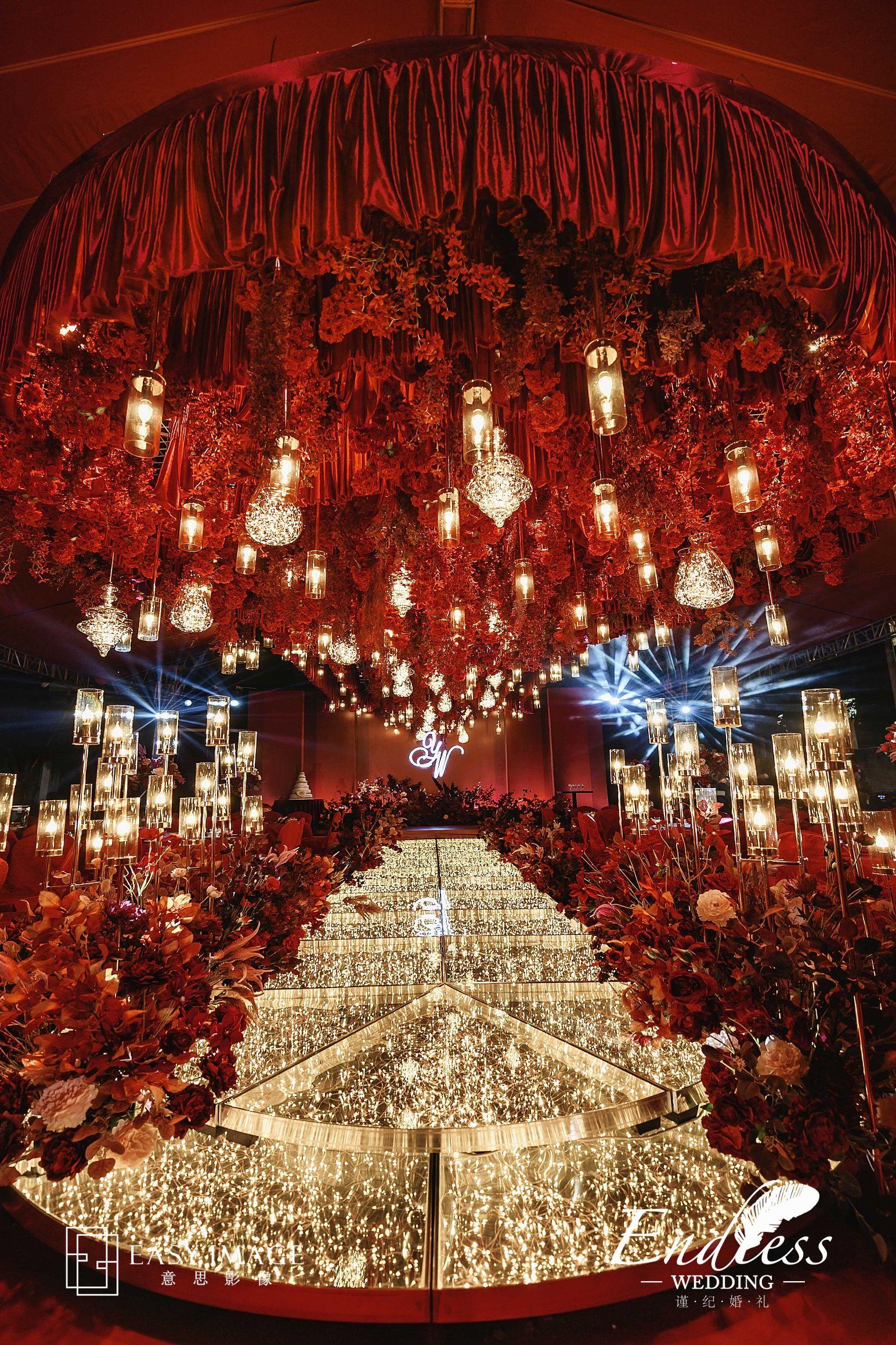 义乌海韵婚庆道具--2020年新品 星7米粒舞台 婚礼装饰