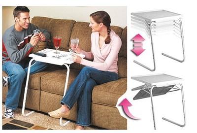 TV产品折叠懒人床上电脑桌 可调节多功能折叠电脑升降桌