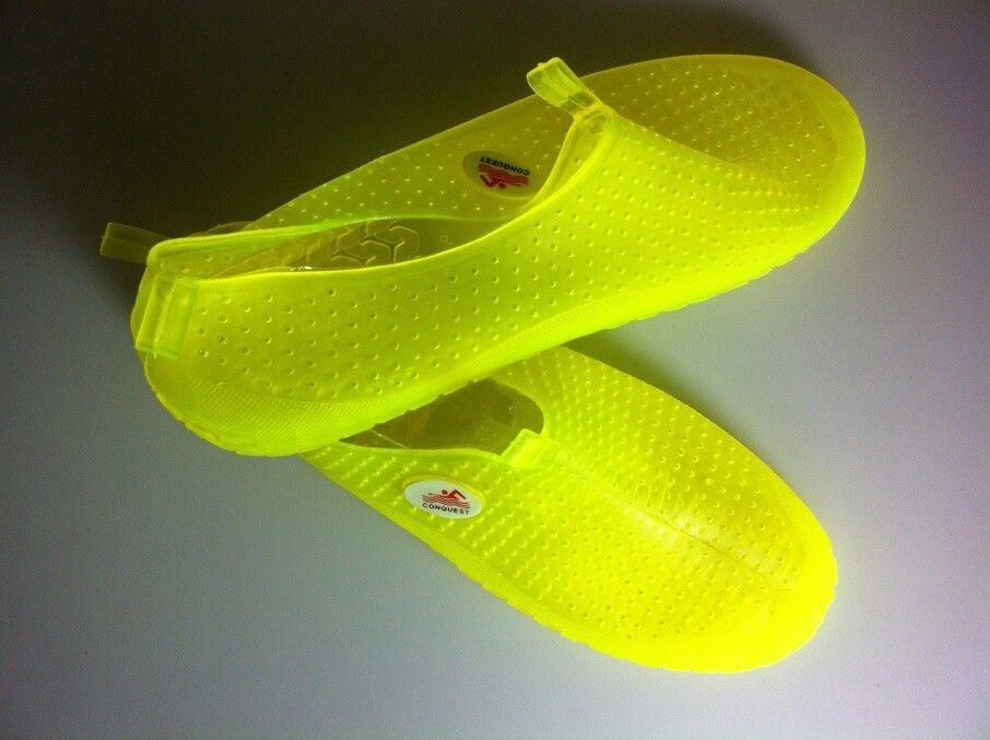 厂家直销 搏路潜水鞋 沙滩鞋 透明水晶鞋 游泳鞋BL088黄色36码