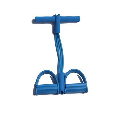 家用瑜伽多功能四股四管四条绳脚踏器 脚蹬拉力器 脚踏拉力绳