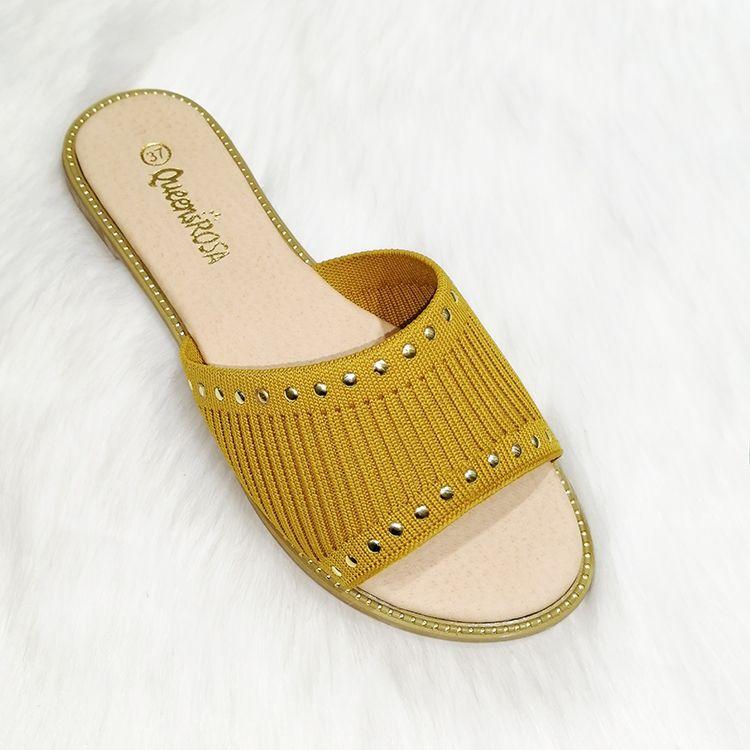 Slippers for womens 女鞋子凉鞋拖鞋飞织面料