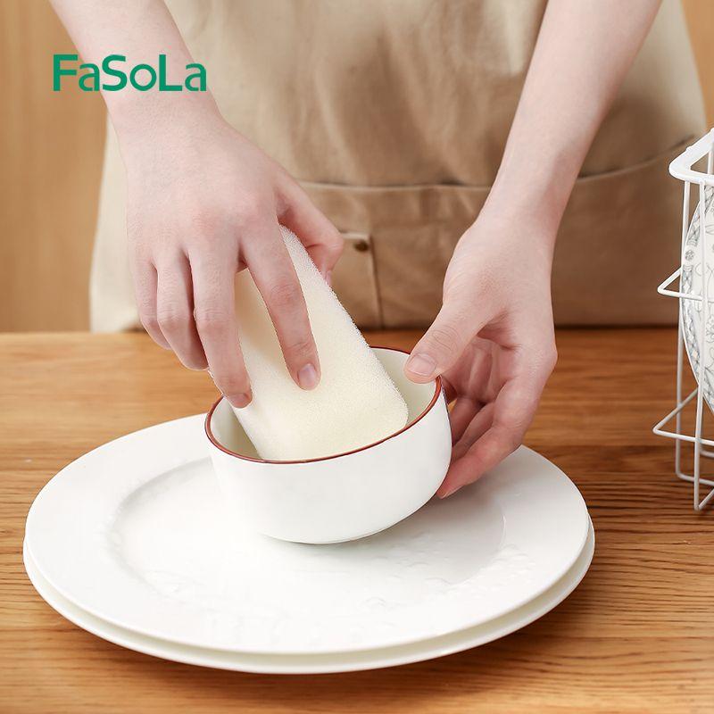 三层复合洗碗刷 海绵厨房清洁去油污百洁布 3件装
