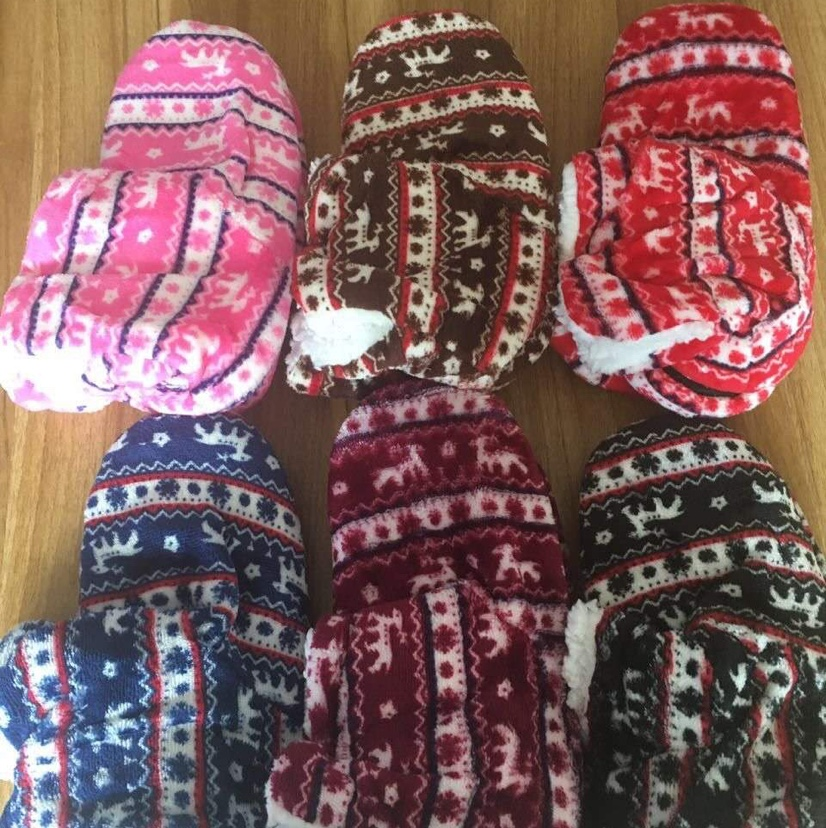 加厚加绒保暖雪地袜女士中筒地板袜秋冬毛圈袜厂家直供5
