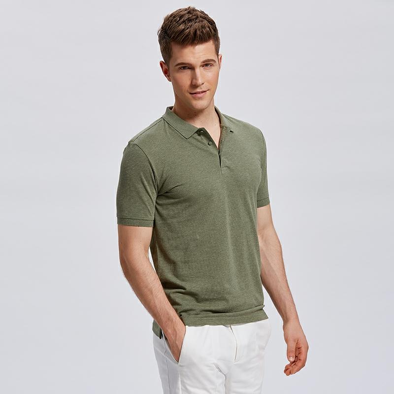 乔治汤米 男士夏季新款POLO短袖衫商务休闲纯棉英伦纯色翻领大码