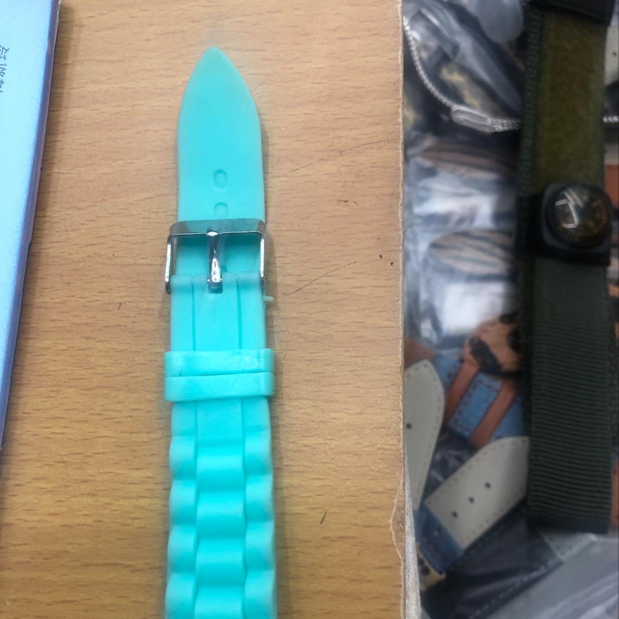 绿色硅胶手表带