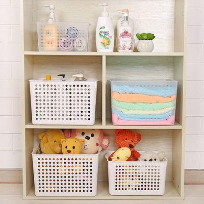 3042办公室塑料储物收纳篮桌面收纳筐浴室置物盒厨房杂物整理篮
