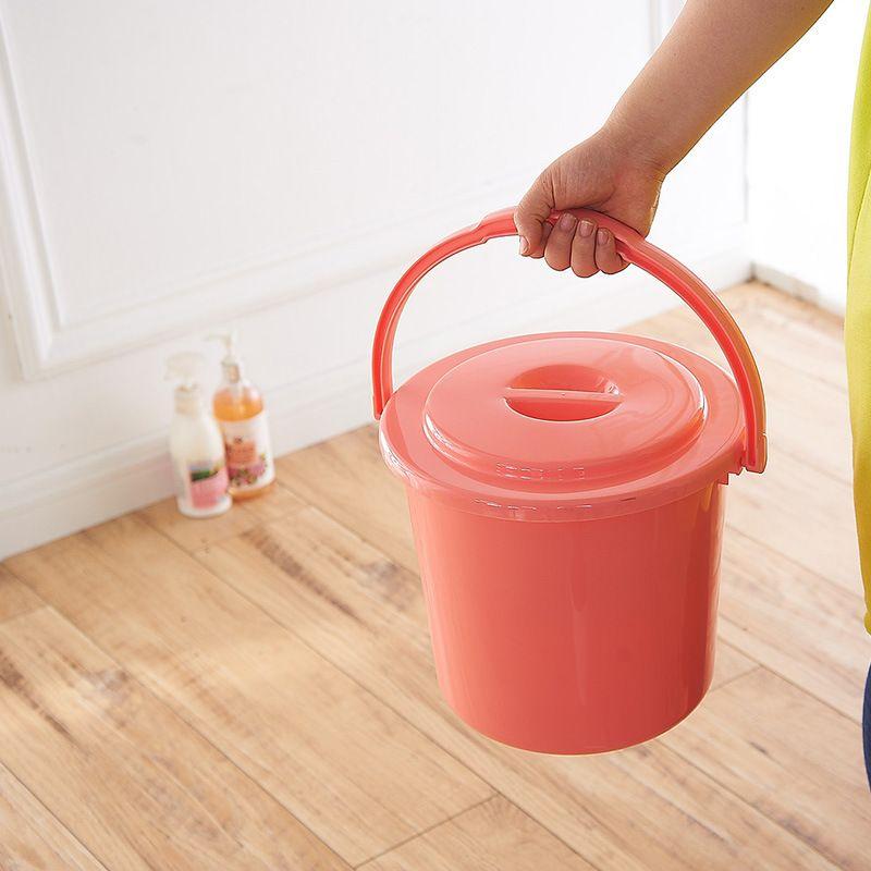 320加厚手提装带盖水桶塑料桶家用洗澡洗车洗衣桶大号储水桶