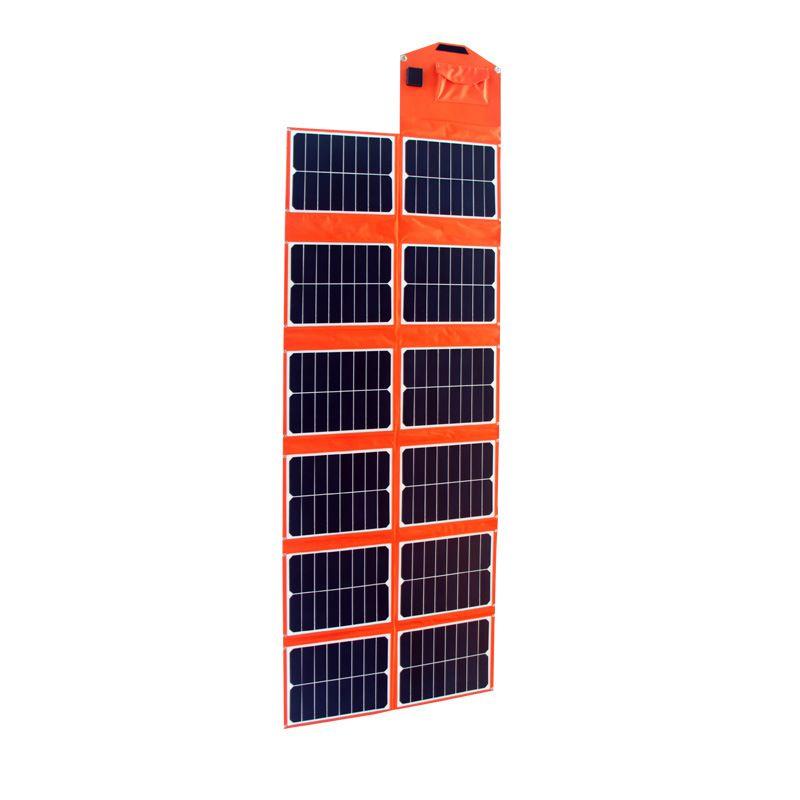 180WPET太阳能折叠充电器 户外露营应急电源充电板