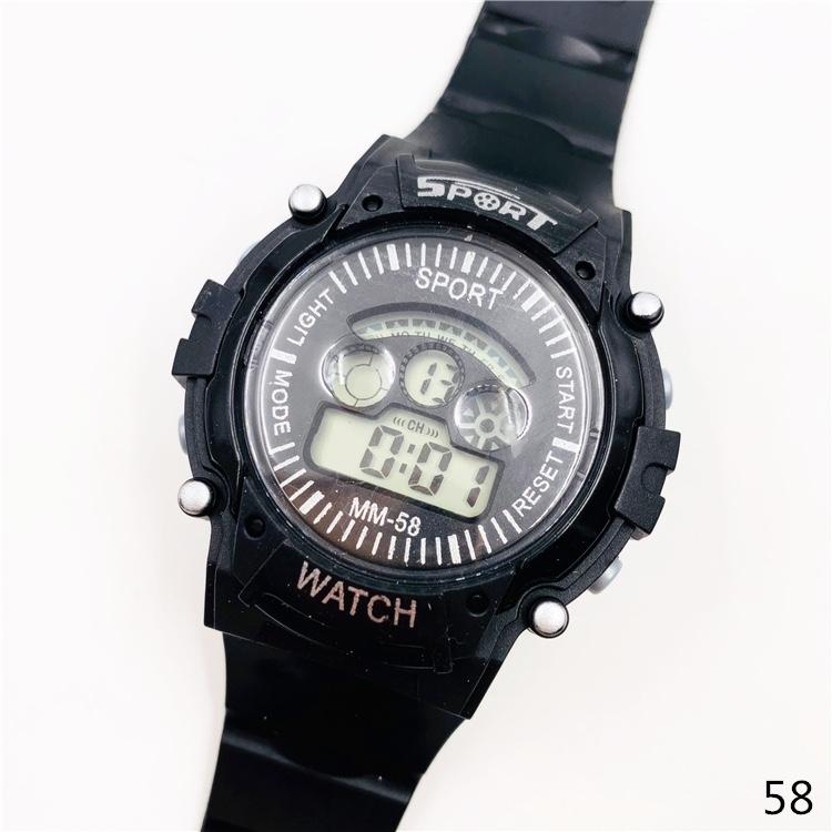 儿童运动手表58放水手表LED七彩灯手表跨境爆款手表