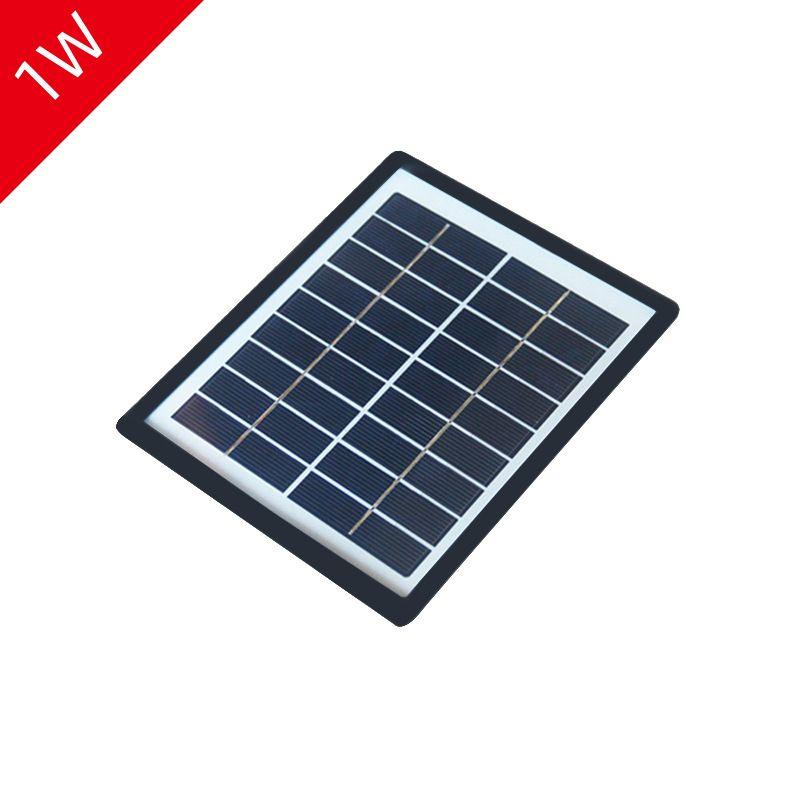 1W5V多晶太阳能板玻璃层压太阳能电池板光伏发电移动电源