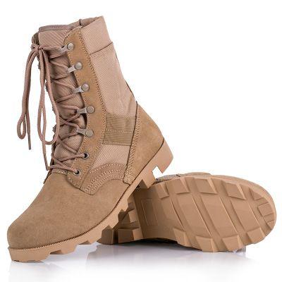 厂家直销作战靴沙漠靴高帮户外战术靴特种兵07作战靴作训军靴