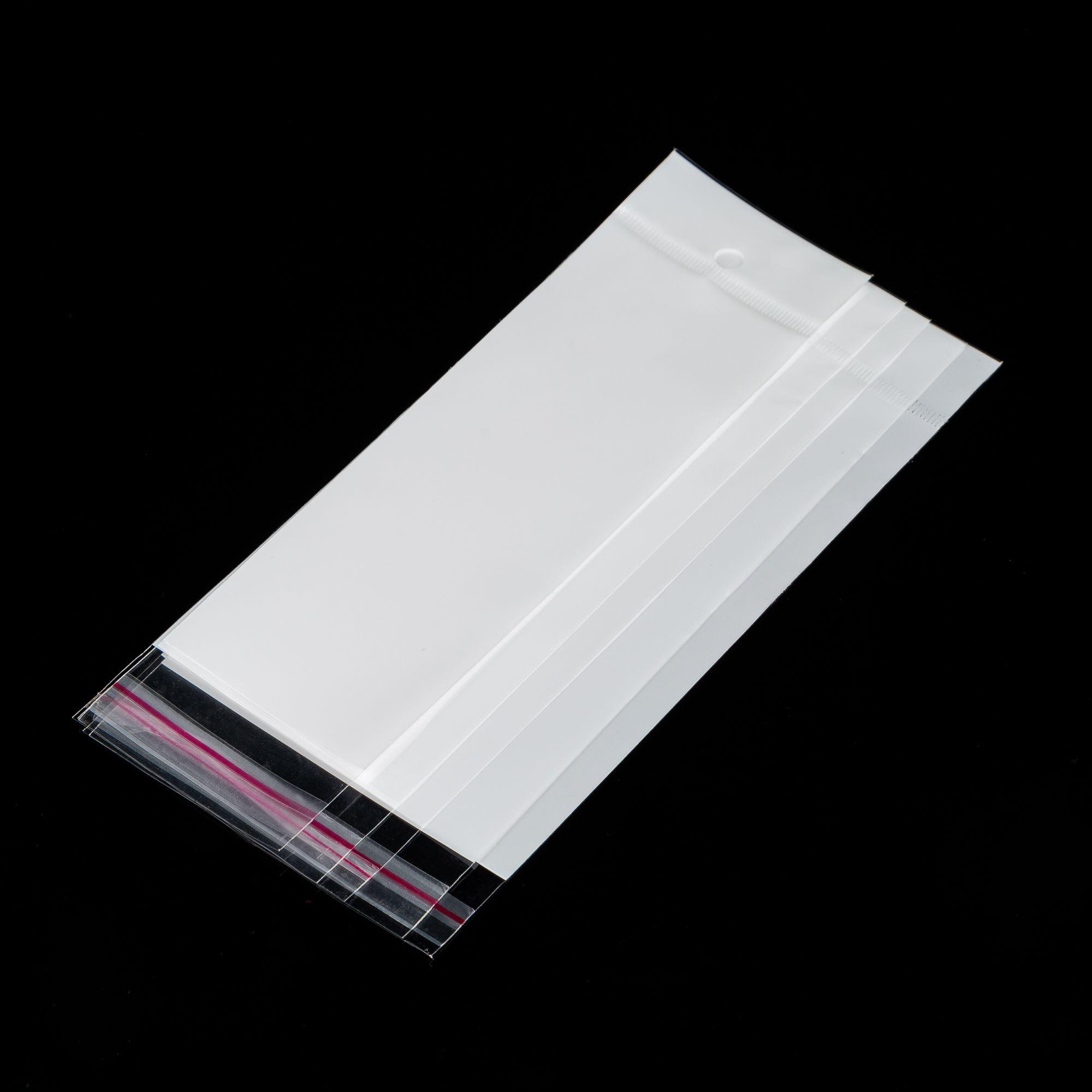 工厂现货批发珠光膜白色底OPP卡头袋不锈钢饰品袋流行饰品袋8*14