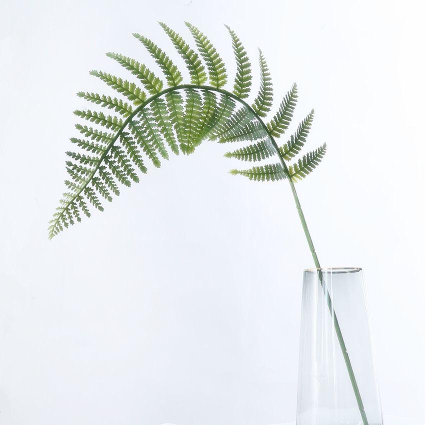 仿真植物散尾葵单片长枝塑胶叶材 婚庆布置长片波斯叶长约95CM HC30051,30052
