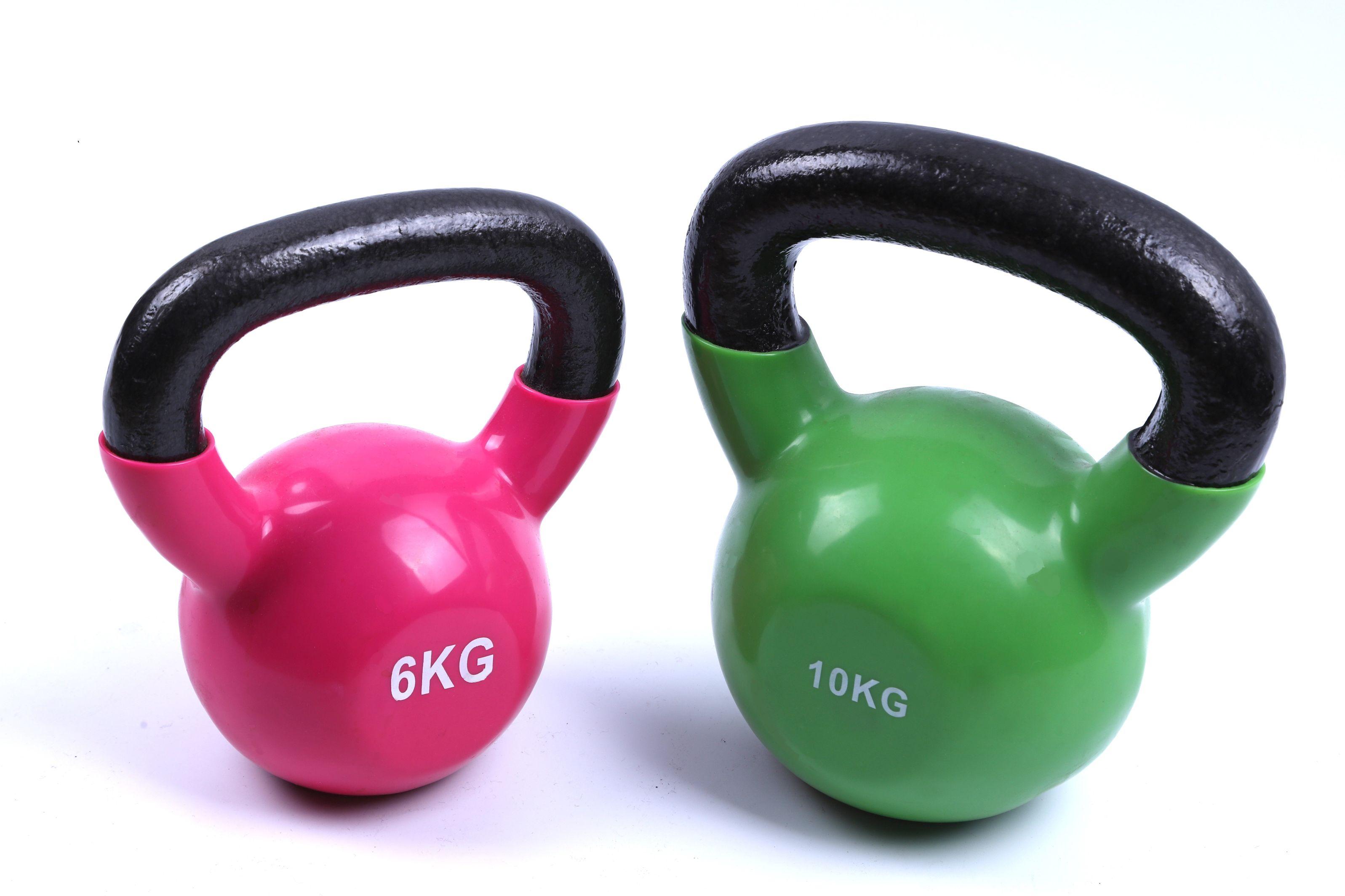 光面浸塑壶铃家用健身体育器材厂家批发锻炼手臂肌肉