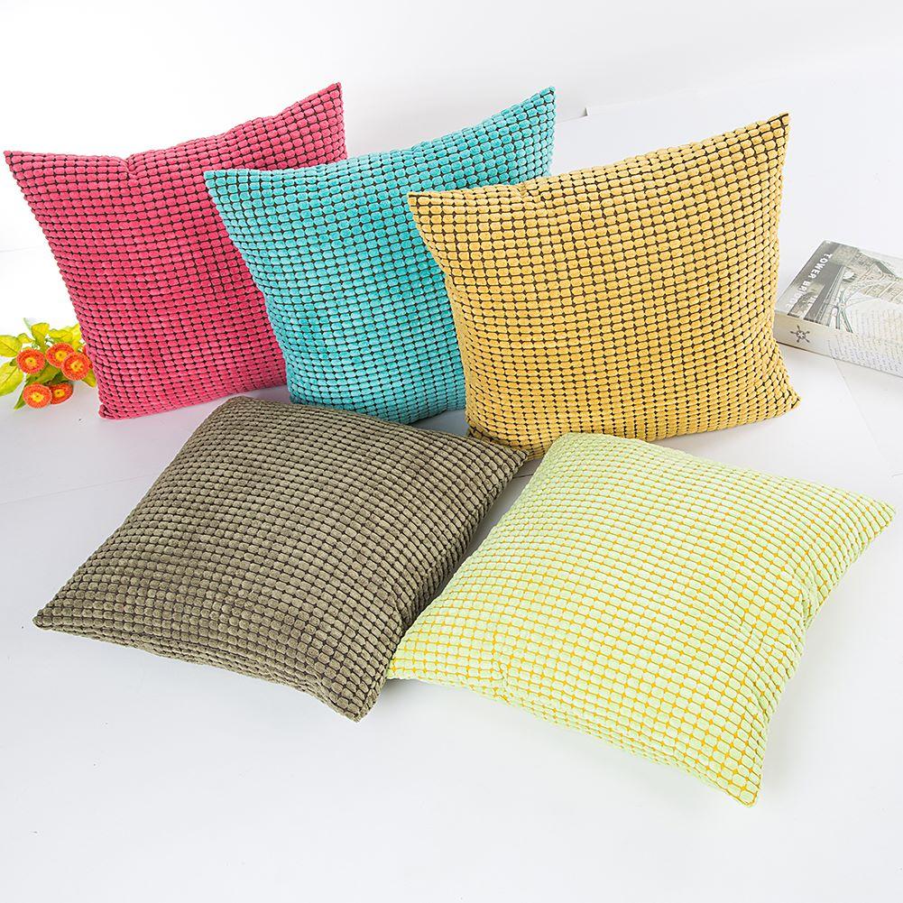 爱哆家纺 灯芯绒大玉米粒抱枕靠枕靠垫 批发零售