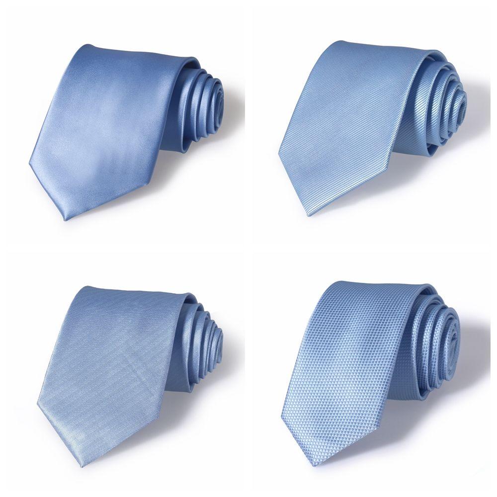 天蓝色商务领带男士