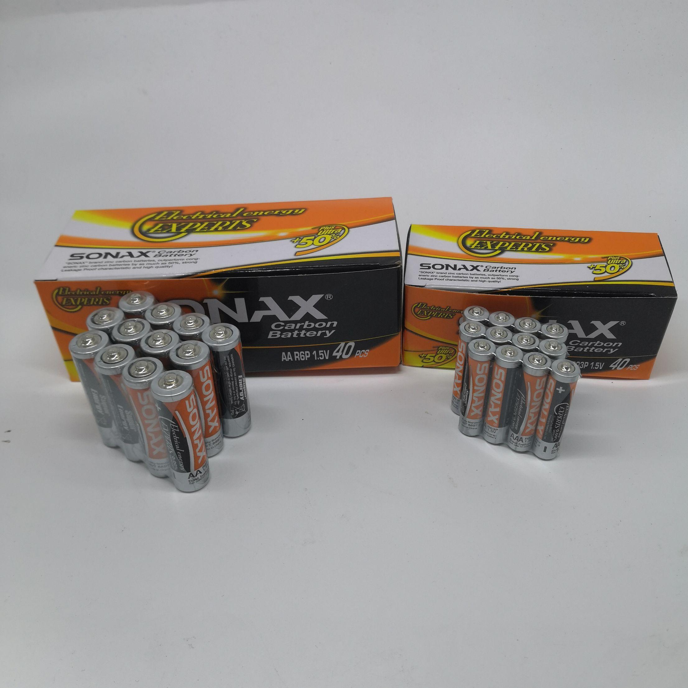 SONAX碳性电池5号7号AA/AAA玩具钟表计算器遥控器