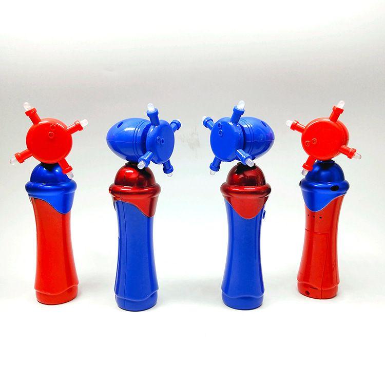 儿童乐园发光玩具 led电动发光旋转棒 儿童圣诞节发光七彩旋转棒