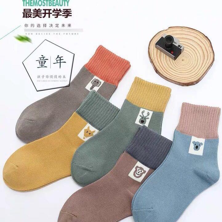 儿童袜子秋冬中筒袜男童女童地板袜卡通童袜地摊批发宝宝袜子