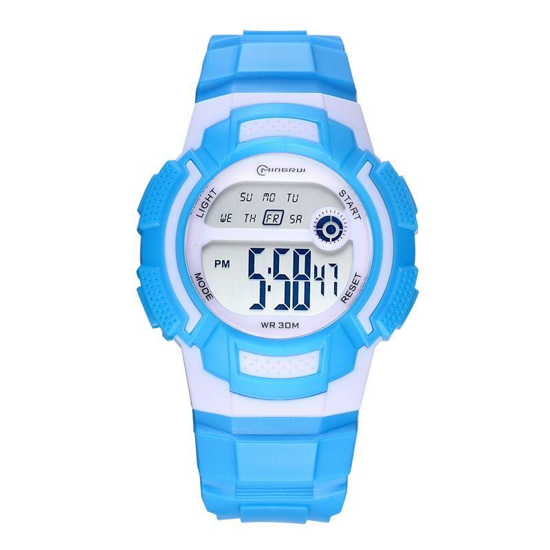 儿童环保手表批发 LED女童男童手表户外运动电子表
