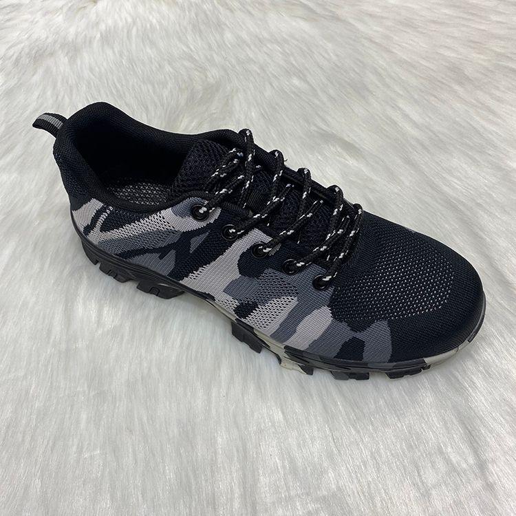 2020safety shoes定制劳保鞋户外工地飞织透气钢头鞋