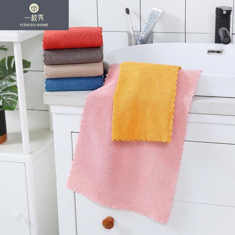 义乌好货一枝秀水晶之恋毛巾抹布家用不沾油清洁布无水印抹布1055