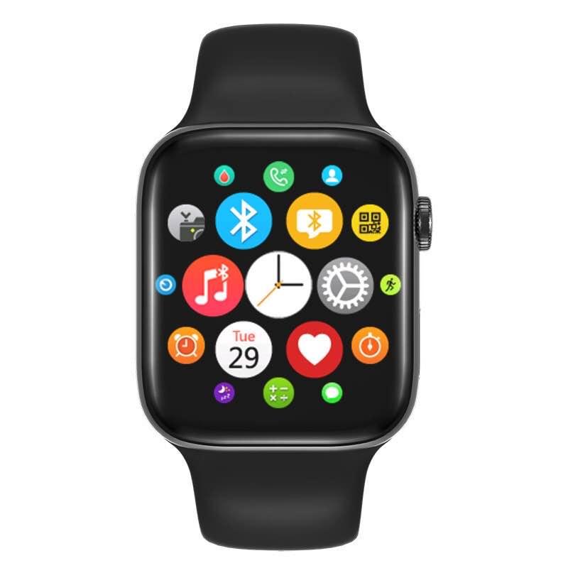 K90智能彩屏手表户外运动心率血压监测电话信息提醒防水手表