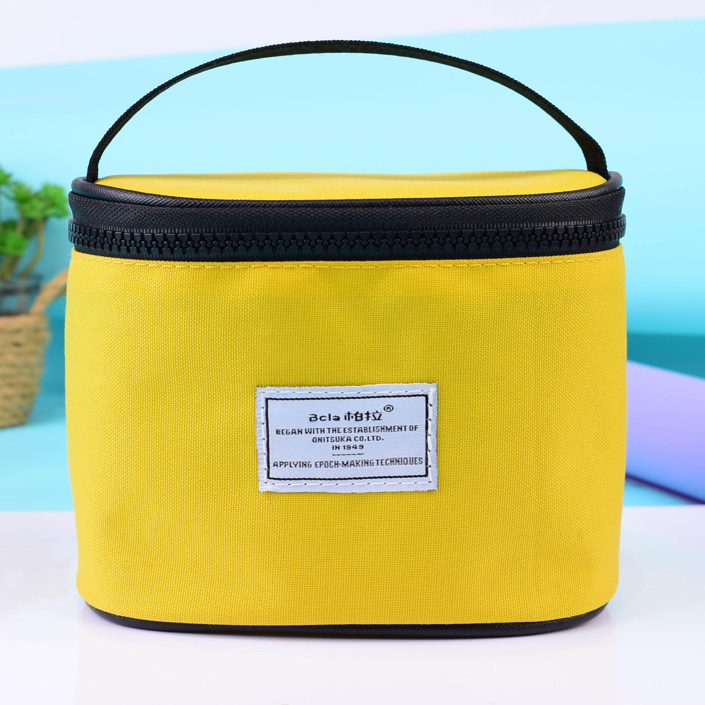 厂家直销可定制多色防水尼龙圆筒收纳袋时尚手提便携化妆包