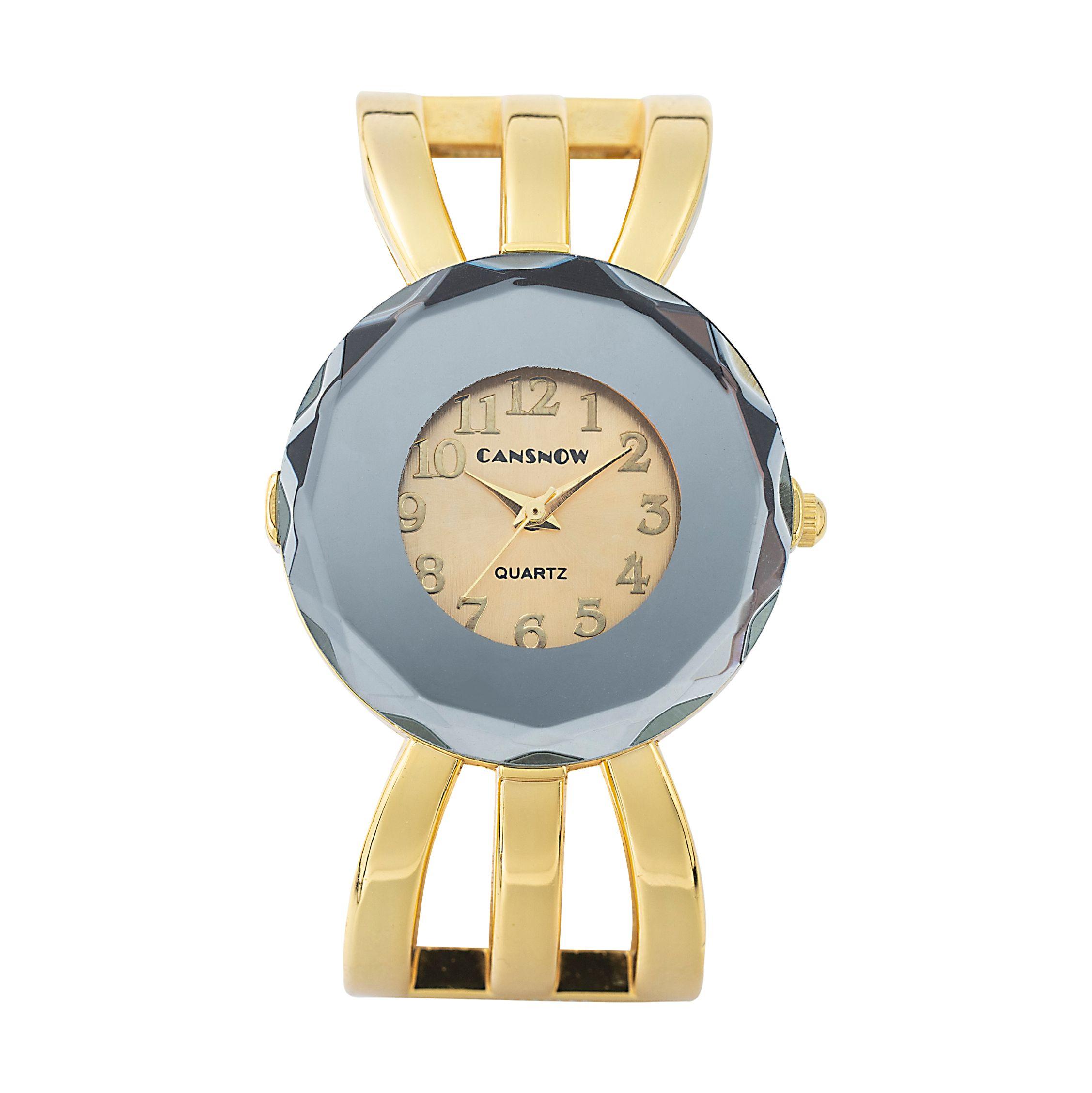 厂家直销亚马逊爆款合金女士手表时尚石英女表开口式手镯表