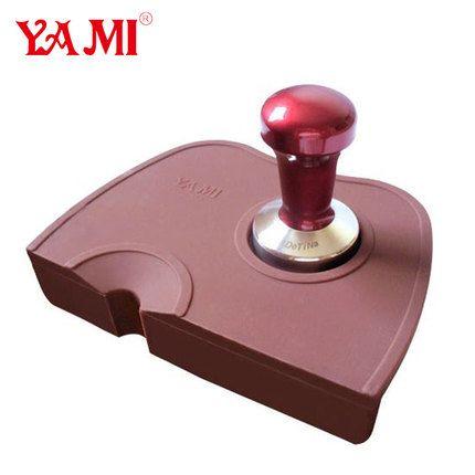 亚米YAMI 粉压垫全硅胶咖啡吧台垫压粉垫防滑填压垫压粉器转角垫