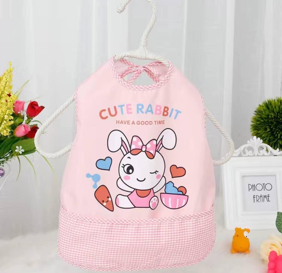 宝宝围嘴围裙防水无袖儿童背后系带吃饭衣宝宝防水围兜