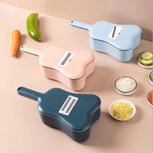 新款尤克里里多功能切菜器11件套沥水篮刨丝切片条尤克里里切菜器