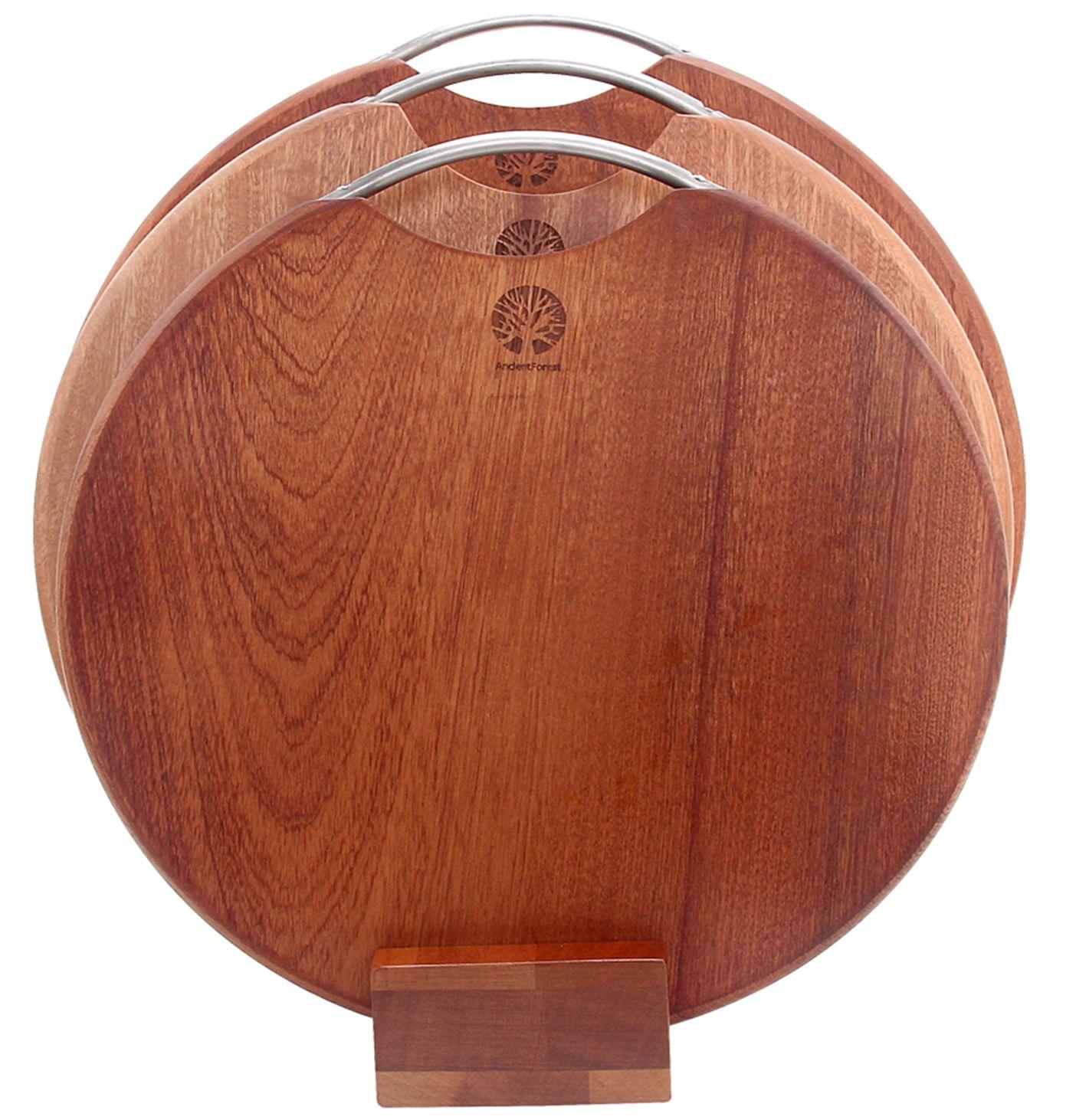 义乌好货 小号乌檀木圆形整木菜板  Φ33*2.5cm/YK
