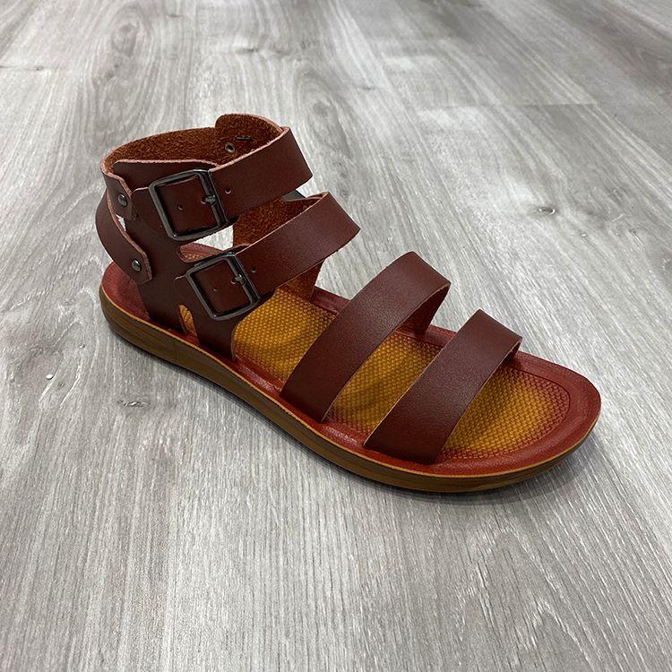 Men high top double belt buckle fashion men casual sandals