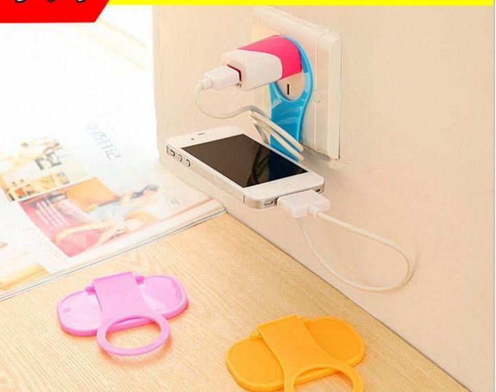 创意可折叠手机充电支架 便携手机充电伴侣手机座通用懒人挂架