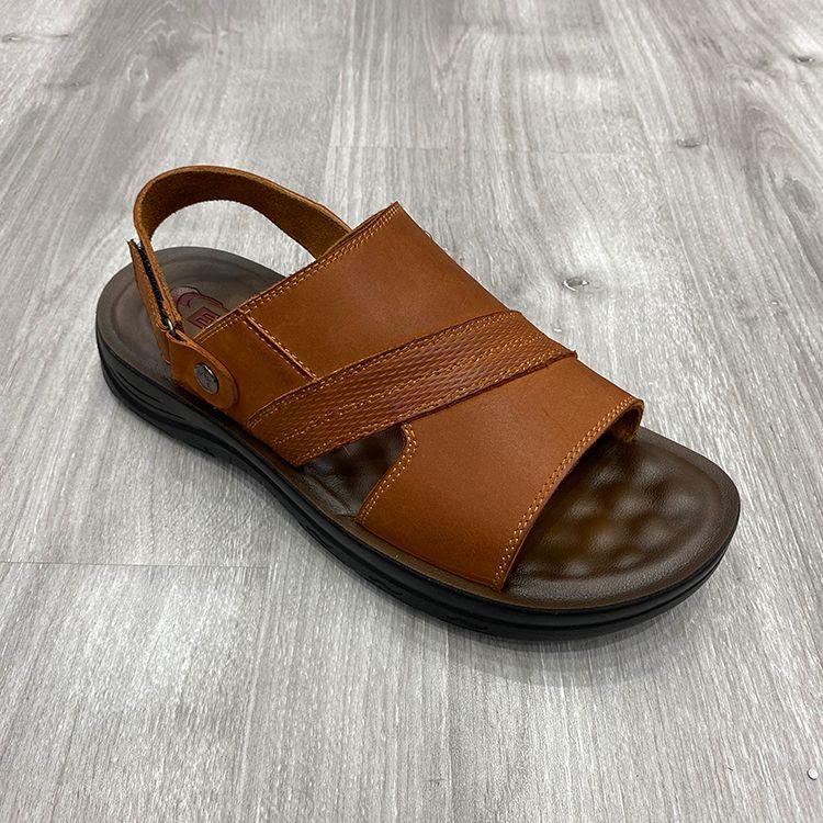 Black fashion leather sports new men sandals