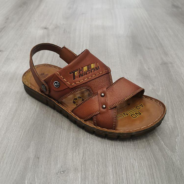 真皮两用凉拖鞋时尚潮流舒适男鞋double use sandals men shoes